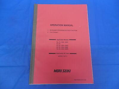 Mori Seiki Cnc Operation Manual Program Editing Function F15 Oma-fmorict6fii-00e