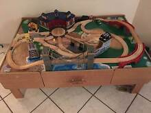 Train Table with Wooden Train Set Quakers Hill Blacktown Area Preview