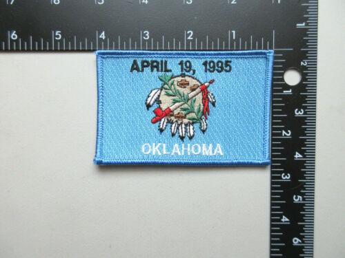VINTAGE OKLAHOMA APRIL 19, 1995 OKLAHOMA CITY MEMORIAL COLLECTIBLE PATCH