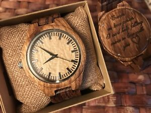 Engraved Personalized Wood Watches Men's Ladies Watch Gifts