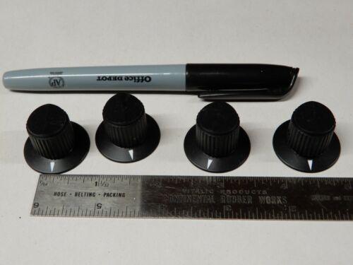 Raytheon Set of 4 Skirted Knobs MS91528-1F2B 1 1/8 dia Skirt 0.7 dia Knob 3/4 Tl