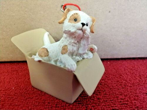 Christmas Ornament  Puppy in a Box~NOS