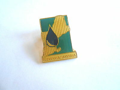 Vintage Newwa New England Water Works Awwa American Water Works Association Pin