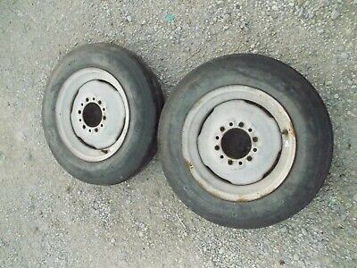 Ford 8n 9n Tractor Front Rims 5.50 X16 Deestone 3 Rib Deep In Tread Tires