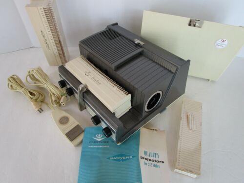 Vintage SAWYER CRESTLINE 500 C Slide Projector Easy Edit  Adapter Remote Tested