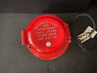 Vintage Rare Faraday Round Fire Alarm Coded Pull Station
