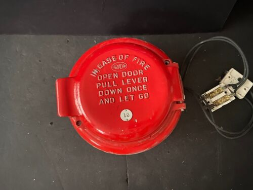 *Vintage* *Rare* Faraday Round Fire Alarm Coded Pull Station