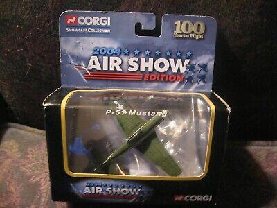 Rare CORGI 2004 AIR SHOW EDITION P-51 Mustang Model STILL IN ORIGINAL BOX