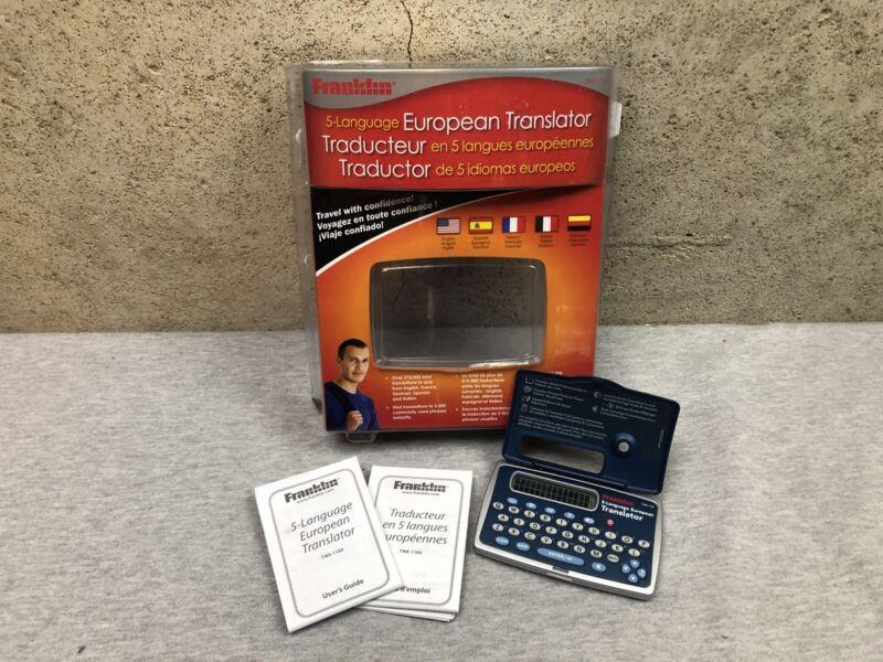 Franklin 5 Language European Translator TWE-118 Spanish French Italian German