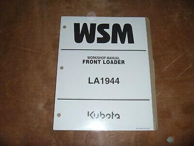 Kubota La1944 Front Loader Shop Service Repair Manual