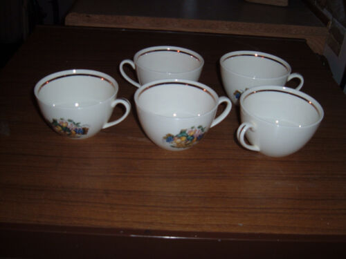 Lot of 5 Edwin Knowles American Tradition Concord pattern cups & saucers USA