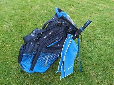 Nike Air Hybrid Golf Stand Bag + Umbrella + Towel / 14 Way Divider / Blue