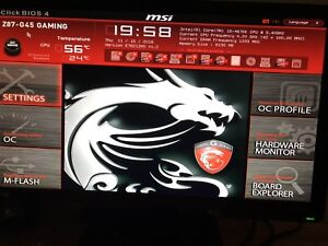 i5 4670k cpu with MSI Z87-G45 motherboard