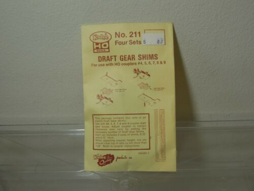 Kadee #211 Draft Gear Shims NIB 4 sets in bag