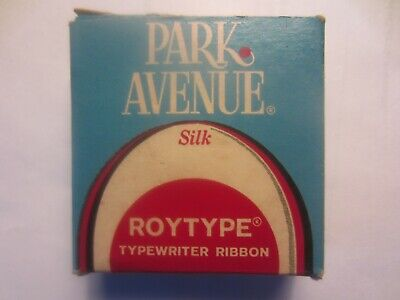 Vintage Park Avenue Silk Roytype Typewriter Ribbon - New Sealed - Black Red