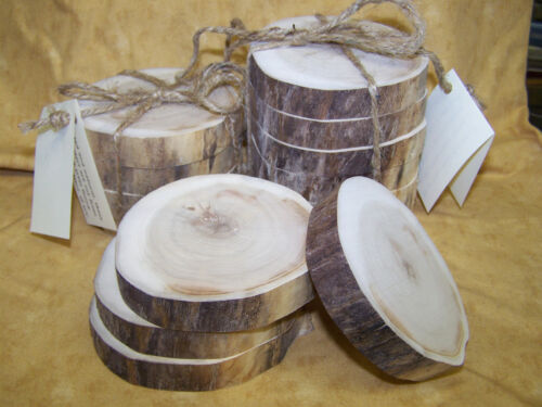 Natural Wood Drink Coasters, Big Horn Mountains - Buffalo, Wyoming, Set Of 4