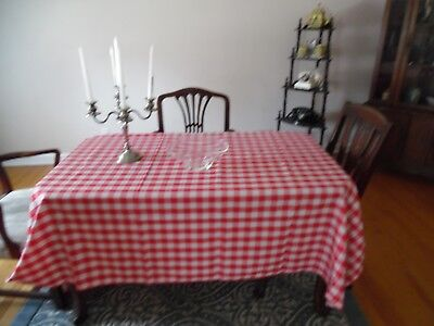 Red and White Checked Polyester Tablecloth](Red And White Checkered Tablecloths)