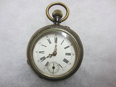 """Antike Herren-Taschenuhr - 3 DECKEL """"SILBER"""" - Verziert - um 1900 - Getragen !!!"""