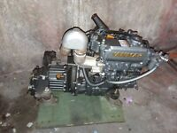Used Yanmar 2GM20-93 Model KM3V V-DRIVE Kanzaki Gears Sailboat Engine apr 300 hr