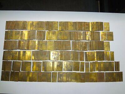 New Hermes Brass Master Copy Type Condensed Block 35-022 220 Piece Font Set 2