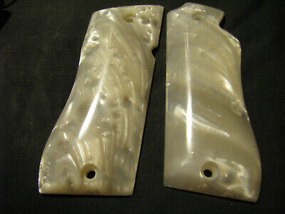 Star Model BM BKM ONLY - SMOOTH Synthetic Pearl Pistol Gun Grips - Beautiful NEW