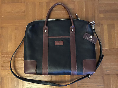 TRAFALGAR LEATHER SMALL LAPTOP BAG, NEW WITH TAGS, SHOULDER STRAP NOT ORIGINAL