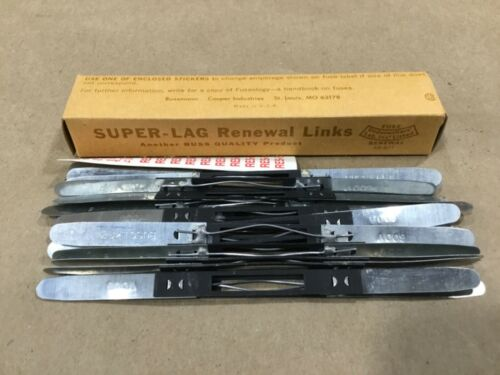 Box Of 20 Bussmann Buss Super-Lag Renewal Links LKS-5 600V #17G46