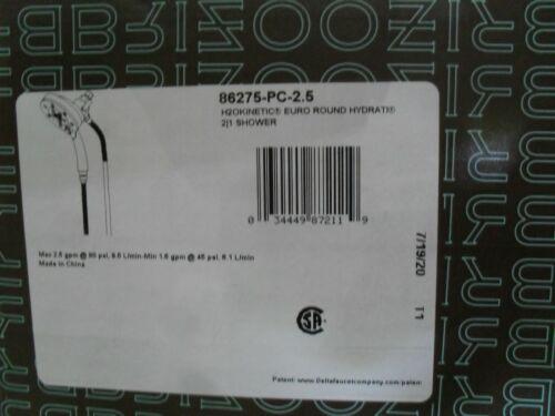 Brizo 86275-PC-2.5 H2Okinetic Euro Round Hydrati 2 in 1 Shower Chrome