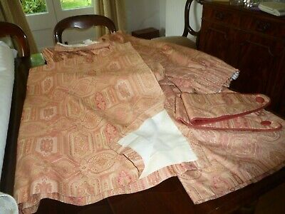Laura Ashley Tamarind Vintage Curtains with Tie Backs
