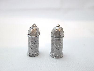 2 Dollhouse Miniature Unfinished Metal Caster / Bottle #3