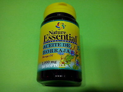 Aceite de Borraja 1000 mg 30 perlas Cabello Piel Uñas Diuretico Antiinflamatorio