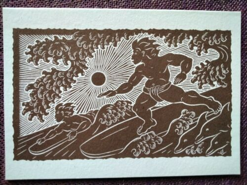 "Dietrich Varez ""Hawaiian Surfers"" Note Card Print Honolulu Museum of Art Hawaii"