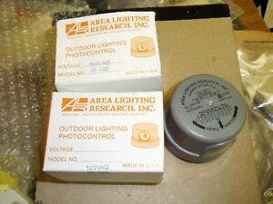 2 each Area Lighting Research BF-120 Tungsten Outdoor Lighting Photocontrols