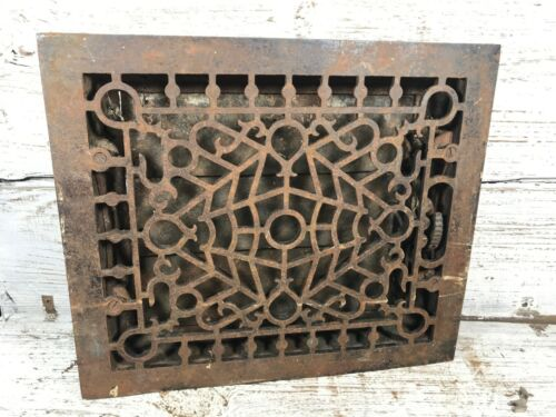 Vintage Antique Cast Iron Floor Grate Floor Vent Floor Register Top