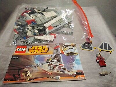 .LEGO STAR WARS 75081 T-16 Skyhopper with Pilot Only, Ship Complete Color Subs