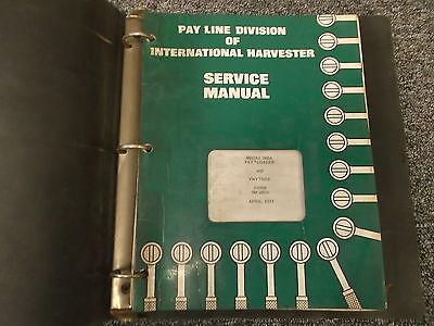 Ih International 260a Pay Loader Backhoe Tractor Shop Service Repair Manual