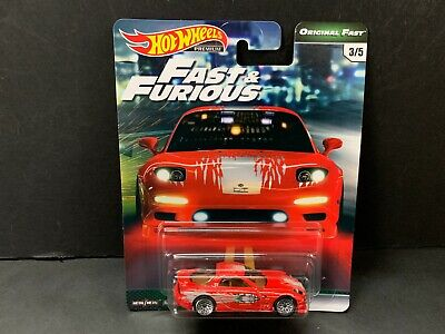 Hot Wheels Mazda RX7 1995 Red Fast and Furious GBW75-956B 1/64