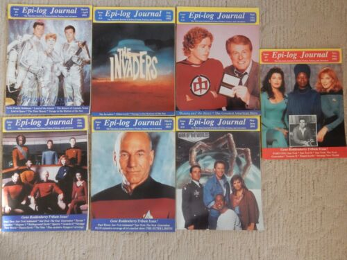 EPI-LOG JOURNAL Magazine- 7 ISSUE LOT #1,3-8 LOST IN SPACE INVADERS,TIME TUNNEL