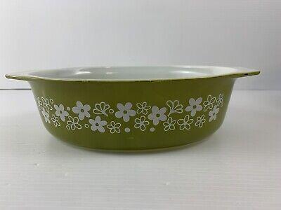 Vintage Pyrex Spring Blossom Daisy #045 2 1/2 Qt Deep Oval Baking Dish Deep Oval Baking Dish