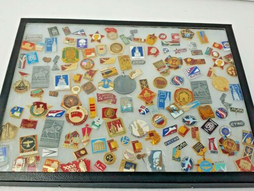 Vintage Russian Russia Pin LOT Collection Medal Badge Award CCCP USSR 100+ piece