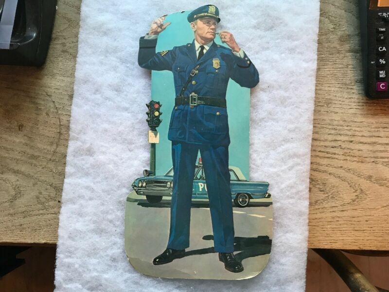 Die Cut Cardboard Vintage Police Officer Directing Traffic