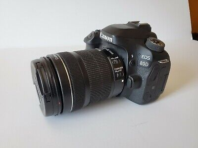 Canon EOS 80D 24.2 MP Digital SLR Camera - Black (with EF-S 18-135mm Lens)