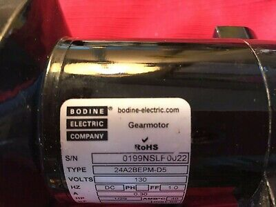 Bodine Electric Gear Motor 24a2bepm-d5 129 Hp 130v 5.6 Rpm