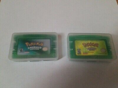 Pokemon Emerald and LeafGreen Version GBA  USA fast shipping *Read*