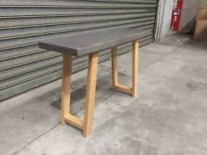 - CONCRETE AND AMERICAN OAK CONSOLE- HALL TABLE- NEW - Richmond Yarra Area Preview