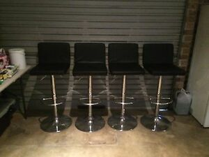 Set of 4 leather bar stools Bligh Park Hawkesbury Area Preview