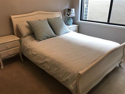 Queen cream bedroom suite