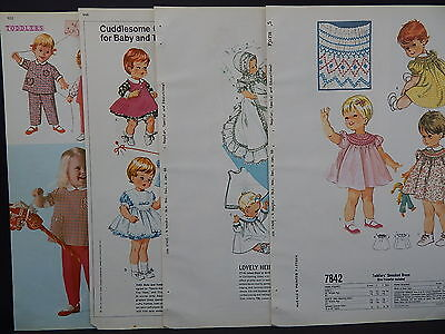 McCalls, 1966 Counter Catalog, Children & Babies Fashion 4 Double-Sided Pages #1 - Childrens Costume Catalog