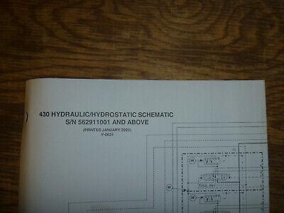 Bobcat 430 Excavator Hydraulic Hydrostatic Schematic Diagram Manual