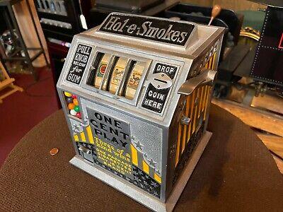 "1935 PACE ""Hol-E-Smokes"" GUM-BALL TRADE STIMULATOR ""WATCH VIDEO"""